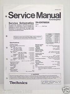 Technics Original Service Manual Schematics SA-EH780GN Tuner/Amplifier