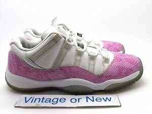 a37aa5ad510 Girls Nike Air Jordan XI 11 Low Pink Snakeskin Retro GS 2013 sz 7Y ...