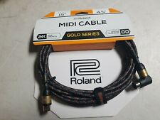Roland Rmidi-ga Gold Series Midi Cable Straight to Right Angle 15 FT