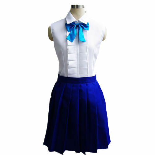 Top Fairy Tail Erza·Scarlet Daily Uniform Skirt Dress Outfit Cosplay Costume