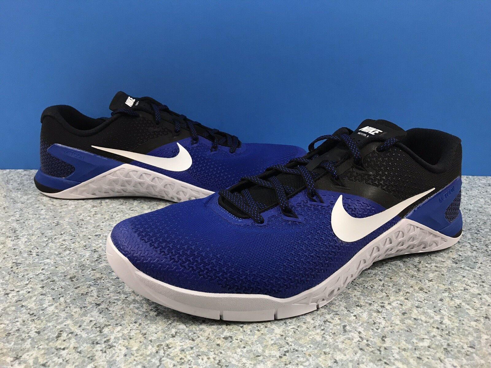 Nike Metcon 4 Training shoes Game Royal White Black AH7453-410 Men's Sz 14