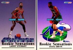 2x-FLEER-1992-LARRY-STEWART-12-12-DOUG-SMITH-10-12-ROOKIE-SENSATIONS-CARDS-LOT