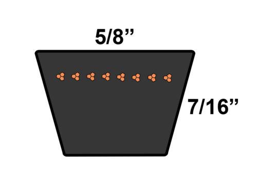 Rubber D/&D PowerDrive 6PL1980 Metric Standard Replacement Belt
