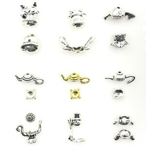 Bead Caps Fit 12-14mm Bead Jewelry DIY Finding Silver Tone Frog Animal 5 Sets