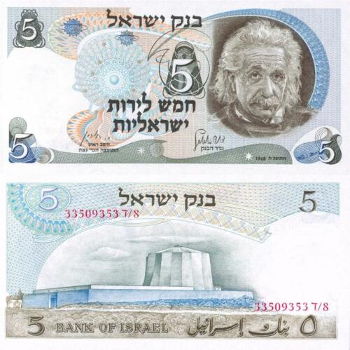 ALBERT EINSTEIN ISRAELI LIROT GLOSSY POSTER PICTURE PHOTO currency lira money 1