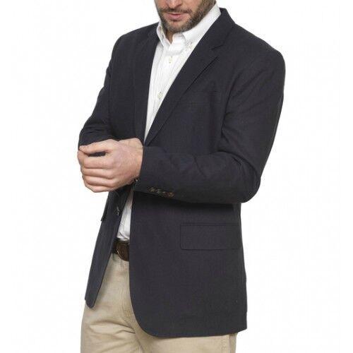 Vedoneire Navy Mens Linen Blend Blazer (3070) Navy Navy Navy - NEW | Sonderpreis  692ca9