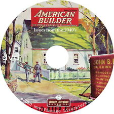 American Home Builder Magazine - 1940's {Full Color Pages & Floor Plans} on DVD