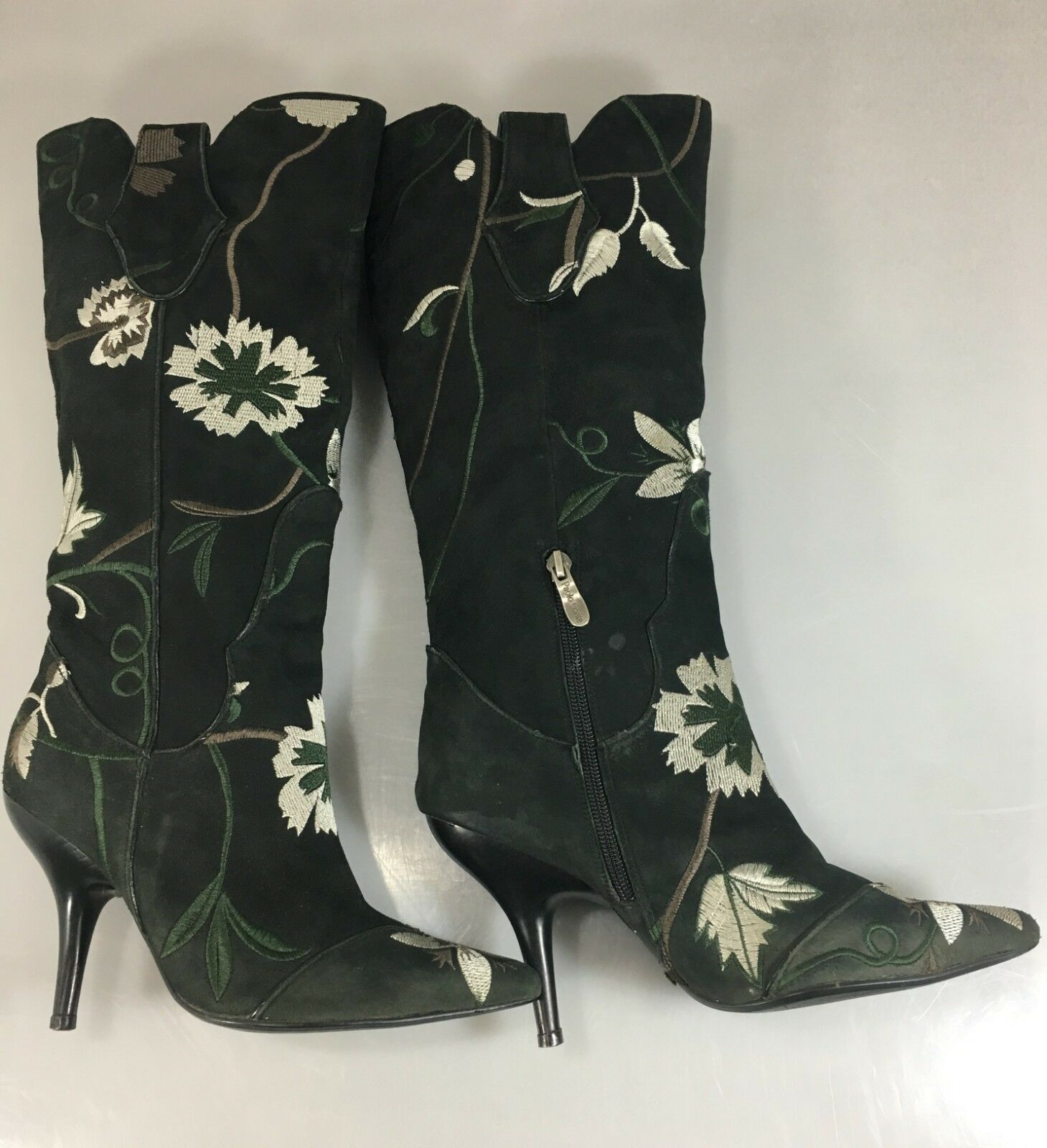 Paolo Conte Damenschuhe Heels 36EU 6US Floral EmbroideROT Suede 4