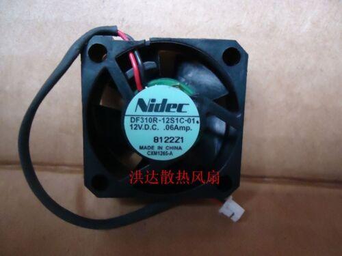 Nidec DF310R-12S1C-01 Fan 30*30*10 12V .06A  2Pin