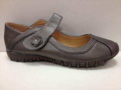 Femmes Chaussures Babies Mocassins Ballerine Gris Neuf P35 36 37 38 39 Fa7009