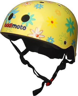 Kiddimoto - Helm Blumen Größe M  KMH029M Kinderhelm NEU  Fahrradhelm  Gokarthelm