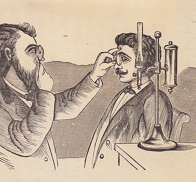 Antique Optician Dr Elson Eye Glasses Freeport IL Advertising Folder Trade Card
