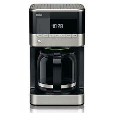 Braun Domestic Home KF 7120 PurAroma 7 Edelstahl-Schwarz 1000 W LCD Display