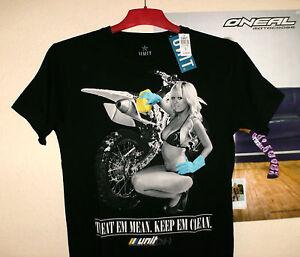 UNIT-Riders-Clean-T-Shirt-Black-M-NEU-Cross-Enduro-KTM-MX-Motiv-KX-F-Kawasaki-KX