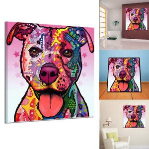 peinture huile tableau abstraite art moderne chien color. Black Bedroom Furniture Sets. Home Design Ideas