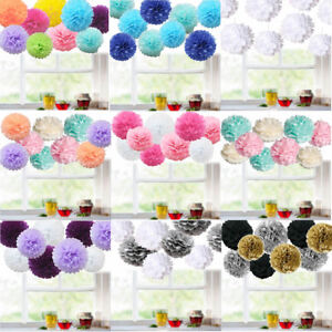 9-Pack-Mixed-Tissue-Paper-Pompoms-Pom-Poms-Hanging-Garland-Wedding-Party-Decor