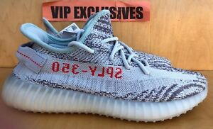 2ca85bae4 Adidas Yeezy Boost 350 V2 Blue Tint Grey Red B37571 SPLY 100 ...