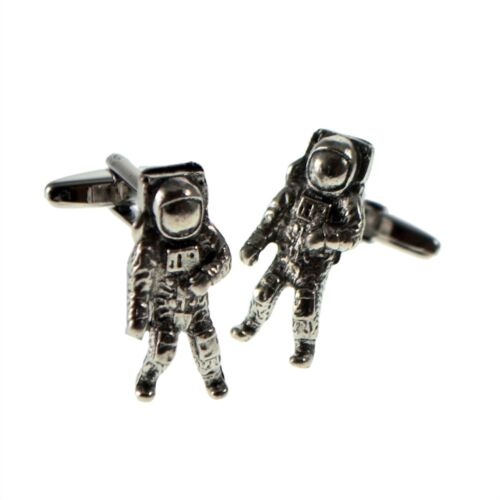 English Made Astronaut Pewter Cufflinks in a Box XWCL063