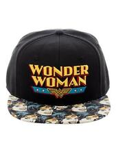 OFFICIAL DC COMICS WONDER WOMAN RETRO SYMBOL SNAPBACK CAP WITH PRINTED VISOR