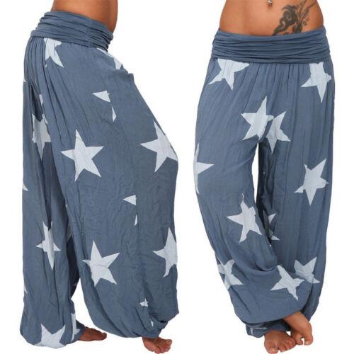 Plus Size Women/'s Harem Trousers Yoga Gym Gypsy Baggy Boho Hippy Palazzo Pant UK