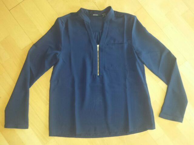 Damen Bluse Longbluse  Gr.36 lässig chic zu Hose Jeans