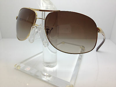 AUTHENTIC RAYBAN RB 3387 001/13 64MM GOLD/GRADIENT BROWN LENS