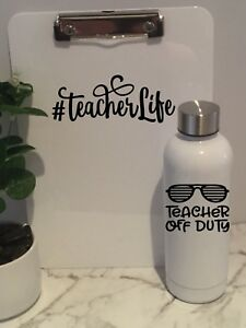 c342fc121b9 Teacher Off Duty Gift DECAL ONLY 3