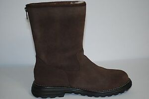 3f95c69d232 Details about UGG Langley Tall Chocolate Leather Sheepskin Women Boots US 7  1016040