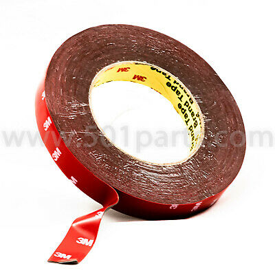"""5 Roll 2//3/"""" x 16 FT Double Sided Faced Foam Attachment Adhesive Mount Tape Black"""