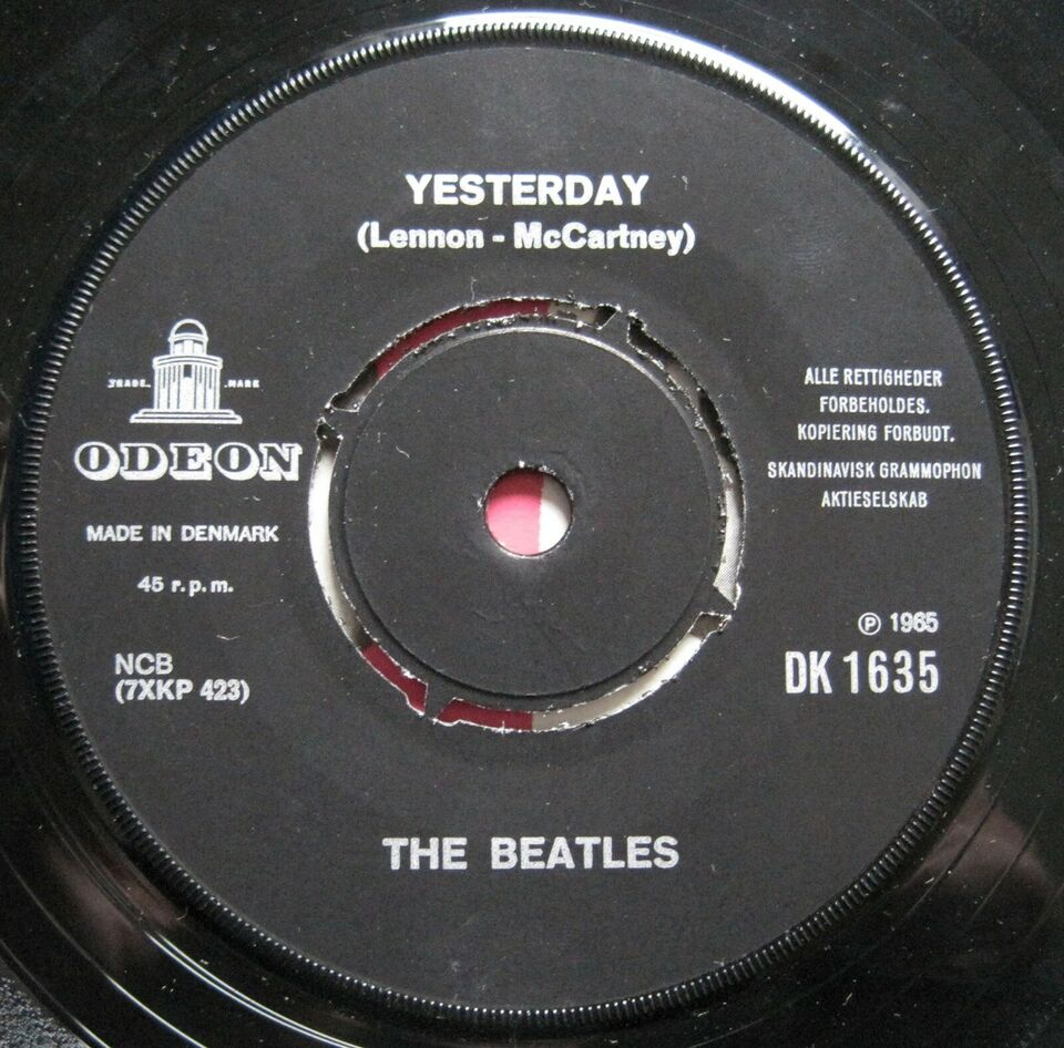 Single, The Beatles, Yesterday / Act naturally