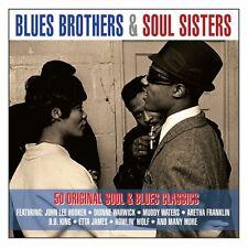 BLUES BROTHERS & SOUL SISTERS - 50 ORIGINAL SOUL & BLUES CLASSICS (NEW 2CD)