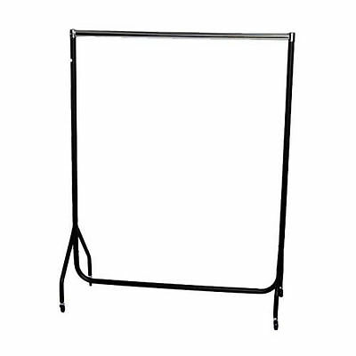 4ft Robust Chrome & Black CLOTHES RAIL Stronger than the Normal Rail Frame 286