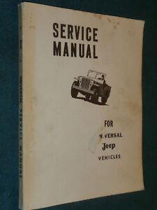 jeep cj2a cj3a cj3b cj5 cj6 manual book will cover m201 hotchkiss rh ebay co uk CJ3B Body jeep cj3b service manual