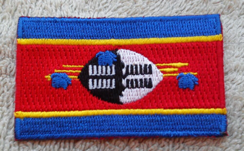 SWAZILAND FLAG PATCH Embroidered Badge Iron Sew on 3.8cm x 6cm Umbuso weSwatini