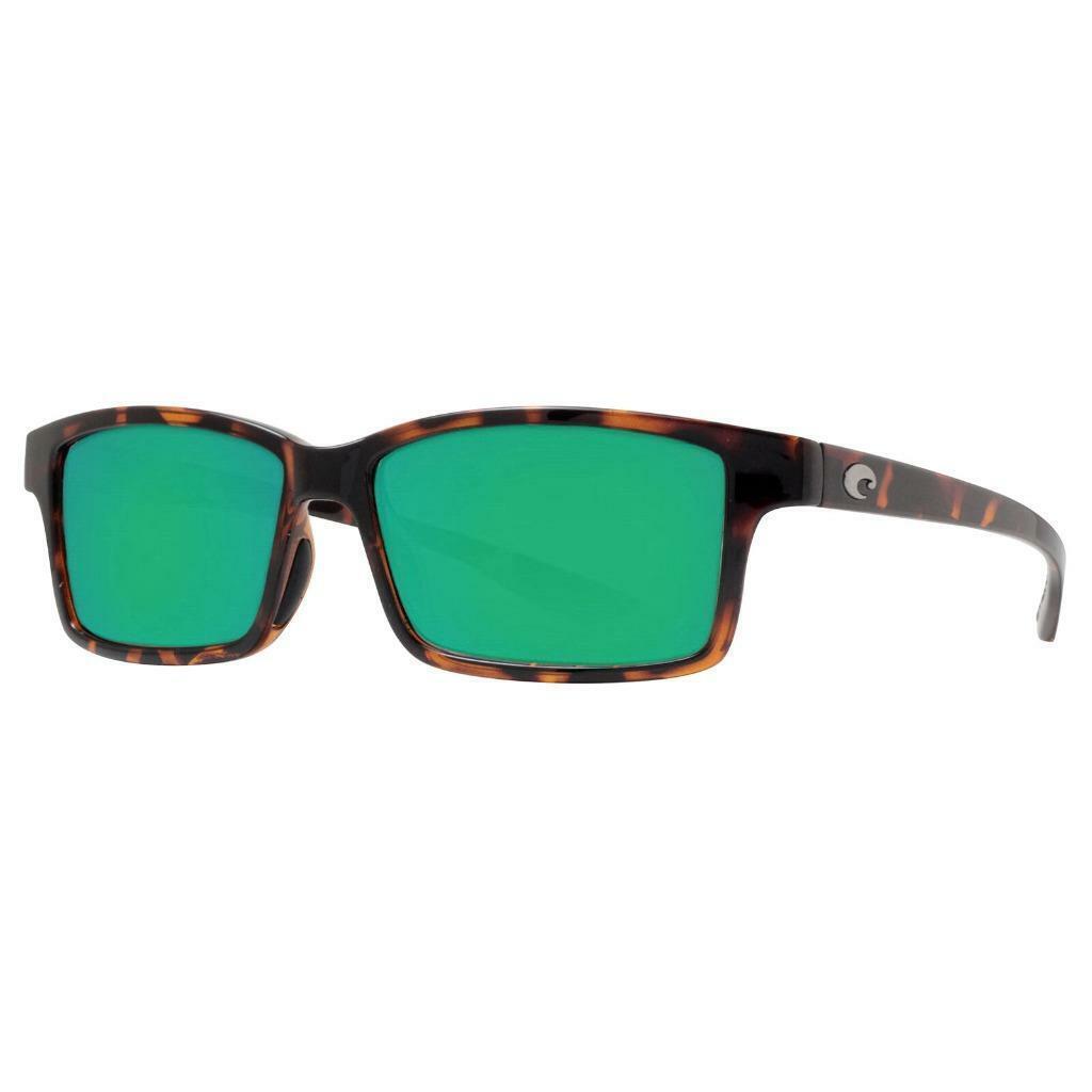 New Costa Del Mar Tern Polarized Sunglasses 580P Retro Tortoise Grün Mirror