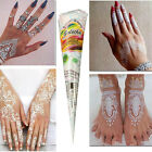 Temporary Tattoo kit White Body Art Paint Ink Natural Herbal Henna Cones Fashion