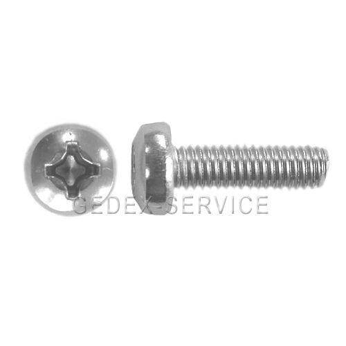 50 st vis cruciforme DIN 7985 m4x6 ISO 7945 en acier inoxydable