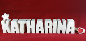 Beton-Steinguss-Buchstaben-3D-Deko-Namen-KATHARINA-als-Geschenk-verpackt