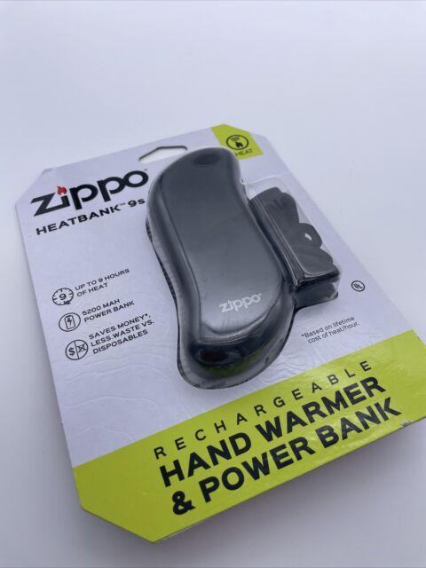 Zippo HeatBank 9S Black Rechargeable USB Hand Warmer + Power Bank 40512