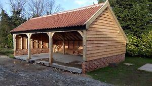Green-Oak-Framed-Garage-3-Bay-Cart-Lodge-FULL-OAK-FRAME-Best-Price-Anywhere