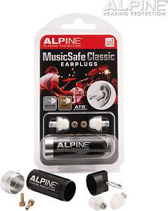 Alpine-Earplugs-Musicsafe-Classic-Protection-Music-Safe-Musicians-Dj-Snr17-Snr18