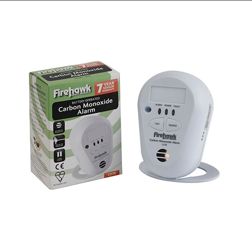 New CO Alarm Firehawk  brand 7 Year Longlife Battery  Carbon Monoxide Detector