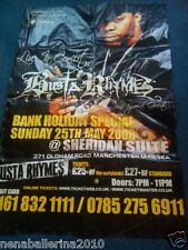 Giant 100x150cm Busta Rhymes poster for 2008 Manchester concert Rap Hip Hop gig