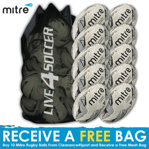 Mitre Maori Match 10 Rugby Ball Deal Plus FREE Bag