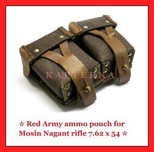 genuine-red-soviet-russian-army-mosin-nagant-ammo-belt-pouch-7-62x54-rifle