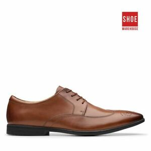 Clarks BAMPTON WING Brown Mens Lace-up Dress/Formal Leather Shoes