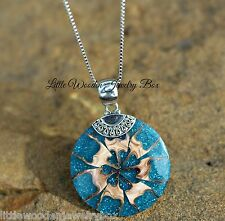 Solid .925 Sterling Silver Bali Shell Beach Charm Pendant Chain Necklace