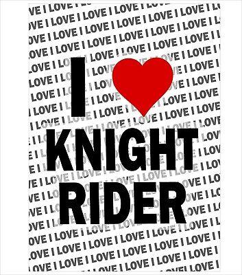 I Love Knight Rider Gift Birthday Christmas Stocking Filler A3 Poster