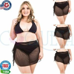 af10b7bece Image is loading Coqueta-Ladies-Mesh-Bikini-Swimsuit-Cover-Up-Sarong-