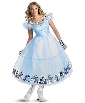 NEW Alice In Wonderland Movie Adult Halloween Costume Size - Large (12-14) Party